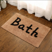Bathroom cotton mat absorbent bathroom non-slip mat bathroom carpet mattress can be machine washable , 3