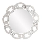 Howard Elliott Collection Melody Mirror, Round, 120cm H x 80cm W x 2.5cm D
