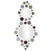 Howard Elliott 68016 Miracle Round Mirror, 34cm by 70cm , Glossy White