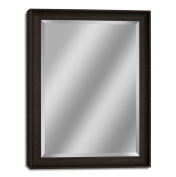 Headwest 8007 Transitional Driftwood Wall Mirror, Dark Teak