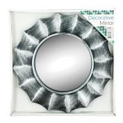 Kole Imports OS267 OS267 Distressed Silver Circle Wall Mirror
