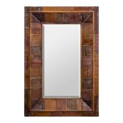 Burkina Home Decor Mirror Cortijo, Wood, brown, 61 x 9 x 91 cm