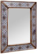 Burkina Home Decor Mirror Murrina, Wood, multicoloured, 70 x 5 x 90 cm