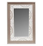 Burkina Home Decor Mirror Galatea, Wood, multicoloured, 60 x 4 x 90 cm