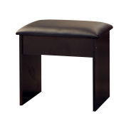 Alpha Dressing Table Stool In Black
