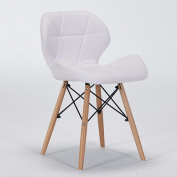 Chair modern casual leather chair computer chair household dining chair solid wood chair creative back chair (Colour