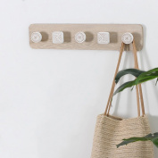 Creative Simple Wooden Hanger Wall Hanging Home Decoration Coat Rack Hook