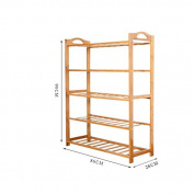 ZHDC® Simple shoe rack multi - storey cabinet cabinet simple and economical modern assembly of bamboo Saving space