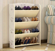 ZHDC® Simple and modern carved thin shoe rack multi-layer simple European shoe Saving space