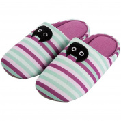YUTIANHOME Girls' Slippers Cotton Washable Soft Warm Non-slip Flat Closed Toe Indoor Home Bedroom Shoes