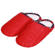 YUTIANHOME Girls' Slippers Knitted Cotton Washable Soft Warm Non-slip Flat Closed Toe Indoor Home Bedroom Shoes