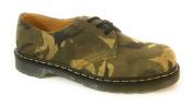 Dr martens 1461 3 Eyelet Green Vert British Large Camo Suede Shoes Size UK 3, EU 36