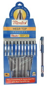 Set of 10 Montex Mega Top Blue Ball Pen - Original Brand New - India..