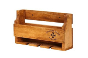Hollyberry Home Rack Holds 4 Bottles-Chateaux Gazin, Wood, Natural, 13 x 47 x 27 cm