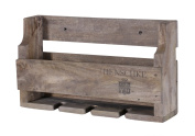 Hollyberry Home Rack Holds 4 Bottles-Henschke, Wood, Natural, 13 x 47 x 27 cm