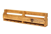 Hollyberry Home Rack Holds 10 Bottles-Smith Haut Lavitte, Wood, Natural, 13 x 113 x 27 cm