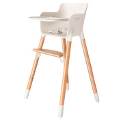 LI JING SHOP - European style Portable Solid wood child Dining chair Multifunction Adjustable file baby eat Seat