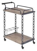 ACME Furniture Jodie 98172 Serving Cart, Rustic Oak & Antique black