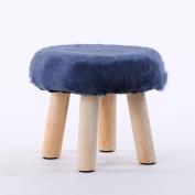 Xuan - worth having Blue Fashion Stool Wood Small Bench Sofa Stool Creative Stool Removable And Washable Stool