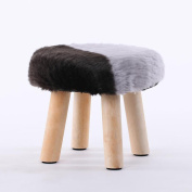 Xuan - worth having White And Black Fashion Stool Wood Small Bench Sofa Stool Creative Stool Removable And Washable Stool