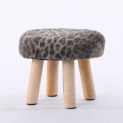 Xuan - worth having Grey Beige Markings Fashion Stool Wood Small Bench Sofa Stool Creative Stool Removable And Washable Stool