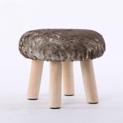 Xuan - worth having Brown Fashion Stool Wood Small Bench Sofa Stool Creative Stool Removable And Washable Stool