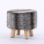 Xuan - worth having Black Grey Stripes Fashion Stool Sofa Stool Creative Stool Removable And Washable Stool