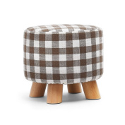 Footstools Stool Solid Wood Change The Shoe Stool Low Stool Cloth Wearing A Shoe Stool Sofa Stool Bench Round Stool Stool Fashion Ideas Correct Sitting Posture ( Colour : 3 ) Ottomans