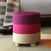 Footstools Stool Solid Wood Change The Shoe Stool Low Stool Cloth Wearing A Shoe Stool Sofa Stool Bench Round Stool Stool Fashion Ideas Correct Sitting Posture Ottomans