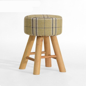 Footstools Solid Wood Stool Fashion Creative Bench Stool Cloth Stool Home Makeup Stool Dressing Stool Ottomans