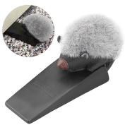 Uarter Cute Hedgehog Door Stopper Door Wedge Finger Protector, Suitable for Home, Black