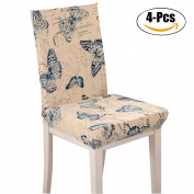 Chair Cover, Outgeek 4Pcs Antifouling Chair Protector Wedding Dining Room Seat Cover Spandex Chair Slipcovers