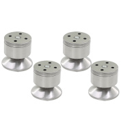 ECYC® 4pcs 60mm Height Furniture Legs Stainless Steel Table Bed Sofa Feet Adjustable Legs