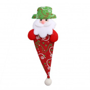 SOMESUN Christmas Xmas Decor Snowman Kitchen Tableware Holder Pocket Dinner Cutlery Bag