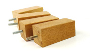 4x REPLACEMENT FURNITURE LEGS SOLID WOOD - 110mm HEIGHT - SOFAS, CHAIRS, SETTEE, CABINETS LEGS - M8(8mm) KNI2055