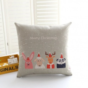Cunguang Cute American sofa cushion rural cartoon christmas cotton fabric pillow Cafe linen pillow,45x45cm (containing core),Flower No. 5
