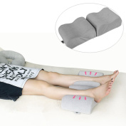 Gaddrt Pain Relief Knee Pillow Memory Foam Leg Pillow Leg Rest Pillow Foldable and Antibacterial Design