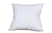 Towel embroidered pillow snowflake pattern cushions