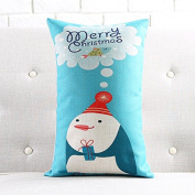 Cunguang Christmas Festival New Year decoration decorative sofa cushion cotton pillow waist pillow furnishings,30x50cm does not contain the core,Q5497 sleeper
