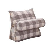 Bedside Triangle Pillows Sofa Large Pillows / Large Cushions Waist Pillow Office Nursing Neck Pillow Sofa Backrest Plaid Pattern