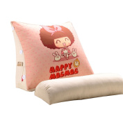 Cartoon Cute Triangle Bed Big Cushions Office Waist Backrest Bed Neck Protection Pillow Sofa Pillow Cushions Pink