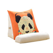 Cartoon Triangle Bed Big Cushions Office Waist Backrest Bed Neck Protection Pillow Sofa Pillow Cushions Panda Graphic Orange