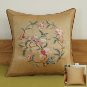 Decorative pillowcase chinese style embroidery sofa pillow bedside cushions -F 50x50cm(20x20inch)Version A