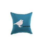 Christmas present gift Embroidered cotton and linen Pillow Auto parts Home decorations Crafts Portable soft Office lumbar pillow Cushion Seat backrest Travel accessories blue