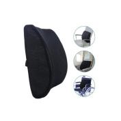 Seat cushion office sofa Car lumbar pad Memory Foam elasticity Protect the spine Auto parts black