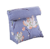 Cotton Bed Triangular Cushions Bedroom Soft Package Large Sofa Backrest Princess by The Waist Pillow and Waist Pillow Blue