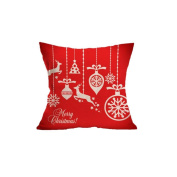 Christmas present flax Pillow cushion Decorations Crafts Wear-resistant Send children / friends / lover / family Auto parts Office lumbar pillow sofa Seat Backrest , red