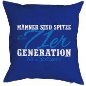 Birthday decoration cushion Männer sind Spitze 71 Generation Sharpener.