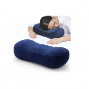 Sleeping pillow Memory Foam Office nap pillow Seat lumbar pillow cushion Backrest Apply to student Office workers drive Home use , blue