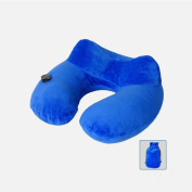 Inflated Travel pillow drive By plane train Office Home student adult Travel accessories massage Cushion Neck pillow , blue